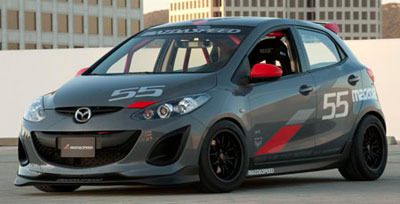 2011 SEMA track Mazda2 with our 15x8 949 Racing Wheels