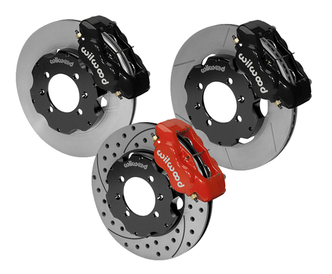 Wilwood Front Only Miata Big Brake Kit with OUR STAINLESS BRAKE LINES and FLUID ADDED for Miata