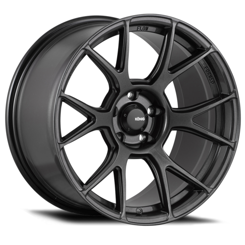 Konig Ampliform 17x8 4X100 ET45 Dark Metallic Graphite for MX5-ND , 17x8