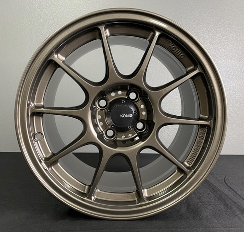 Konig Dekagram 15x7.5 4X100 ET35 Bronze for Miata , 15x7.5