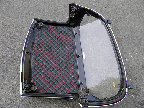 CarbonMiata Quilted Headliner (NA/NB) - Black/Black for Miata