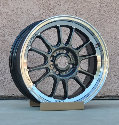 Konig Hypergram 15x7.5 4X100 ET35 Carbon w/ Machined Lip for Miata , 15x7.5