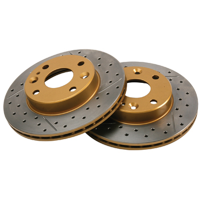 Premium DBA Cross Drilled/Slotted Miata Brake Rotor Set - REAR for Miata 2001-2005, Sports Suspension