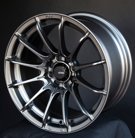 Konig Dial In 15x9 Grey for Miata , 15x9