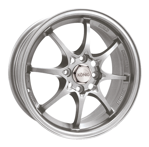 Konig Helium Silver 40mm offset. for Miata , 15x6.5