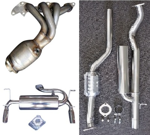 RoadsterSport All Stainless Steel MX5 COMPLETE STREET EXHAUST COMBO. for MX5