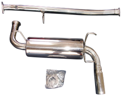COMPLETE Cat-Back RoadsterSport 3 Miata Polished Stainless Steel Exhaust for 90-97 for Miata 1990-1997