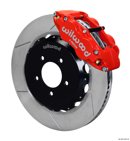 Wilwood Forged Narrow Superlite 6R Big Brake Front Brake Kit, GT Slotted 12.88 Rotor for RX8 , Red Caliper
