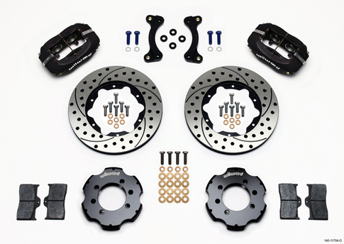 Big Brake Kit by Wilwood - Black Calipers - Drilled/Slotted Rotors for Miata