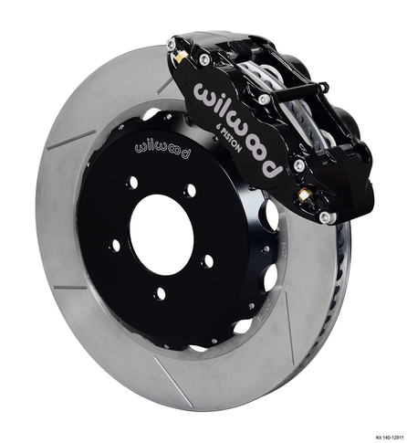 Wilwood Forged Narrow Superlite 6R Big Brake Front Brake Kit, GT Slotted 12.88 Rotor for RX8 , Black Caliper