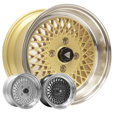 Enkei 92, Classic Series, 38mm, 4x100, 14.1 lbs with Machined Lip! Gold  for Miata , 15x7