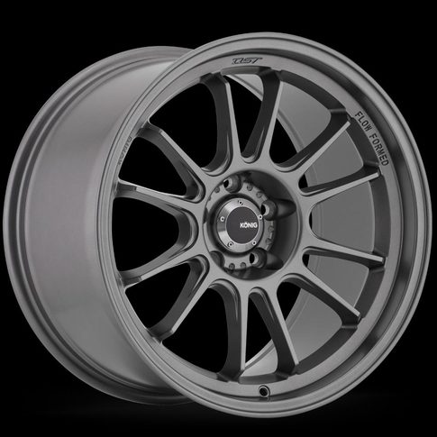 Konig Hypergram 17x8 4X100 ET45 Matte Grey for MX5-ND , 17x8