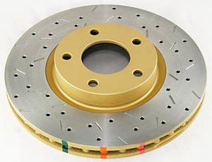 MX-5 Brake Rotor - DBA 4000 Series XS Premium Cross-Drilled and Slotted Brake Rotors - FRONT