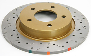 MX-5 Brake Rotor - DBA 4000 Series XS Premium Cross-Drilled and Slotted Brake Rotors - REAR