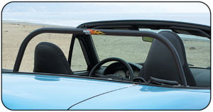 Hard Bar - Black Miata Roll Bar