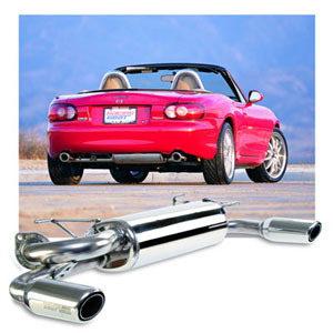 Miata Muffler with DUAL TIPS by Racing Beat for Auto Trans
