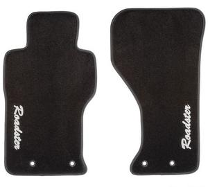 Plush Roadster Floor Mats - Black Carpet