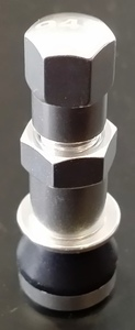 Silver anodized aluminum valves for 6UL wheels