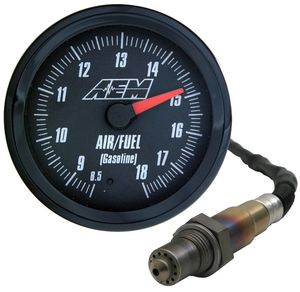 AEM 52mm Black Face Analog Wideband Air/Fuel Gauge