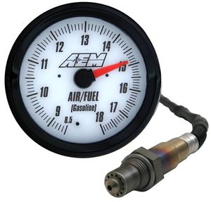 AEM 52mm White Face Analog Wideband Air/Fuel Gauge