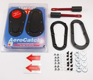 AeroCatch Panel Fastening- Plus Flush Black