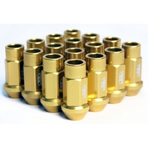 Blox Forged Aluminum Lug Nut Set - GOLD 12 x 1.5MM (16 PC. SET)