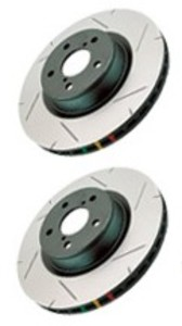 Premium DBA4000 Thermographic Slotted Miata MX5 Brake Rotors--FRONT PAIR
