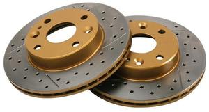 DBA Cross Drilled/Slotted Miata Brake Rotor Set - Front