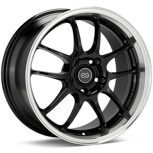 Enkei PF01SS, 48mm, 5x114.3, BLACK with Machined Lip