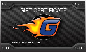 Good-Win Racing Online Gift Certificate $200