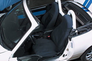 Protective Cloth Seat Cover Set - Black