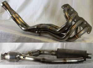 COMBO PPE Stainless LONG TUBE MAX TORQUE Header and Midpipe with Resonator and Converter