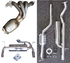 RoadsterSport All Stainless Steel MX5 COMPLETE STREET EXHAUST COMBO.