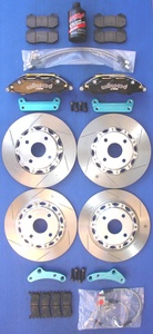 MIATA BIG BRAKE KIT, Version 4,  OUR BEST FOUR WHEEL KIT with Six Piston Calipers!