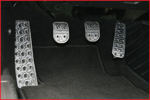 MX5 Miata Performance Billet Pedal Sets--Manual with Roadster Logo
