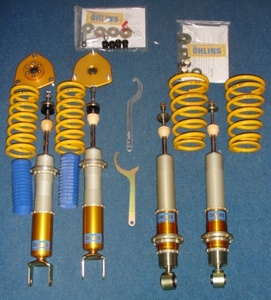 Ohlins FULL RACE DFV COILOVERS 13KG Front, 8kg Rear