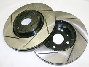 RX7 REAR PAIR 86-88 Curved Vane Slotted Rotors