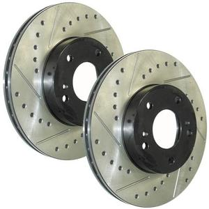 StopTech SportStop Rotors - Drilled and Slotted- Rear Pair