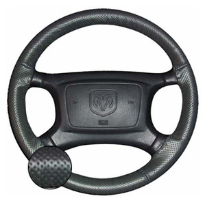 Leather Steering Wheel Cover- Black - Perforated