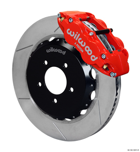 "Wilwood Forged Narrow Superlite 6R Front RX8 Big Brake Kit, GT Slotted 14"" Rotor"