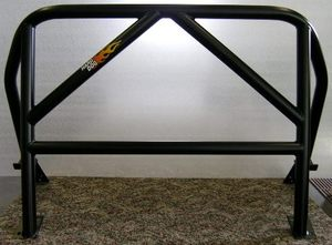 M1 Hardcore, Double Diagonal - Black Miata Roll Bar