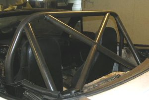 M1 Hardcore, X BRACED Diagonals - Black Miata Roll Bar