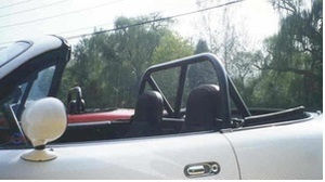 Hard Bar Sport, Double Diagonal - Black Miata Roll Bar