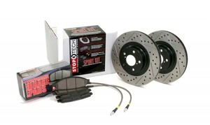 Brake Kit - Drilled and Slotted Rear